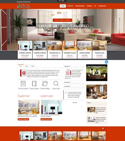 Tecal - Interior Design template