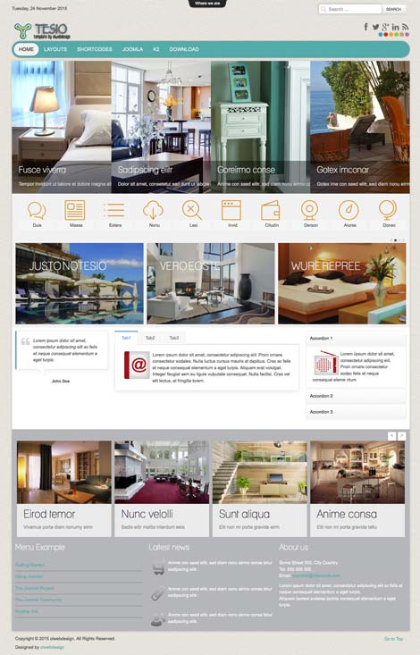 Ol Tesio - Interior Design & Architecture Joomla Template
