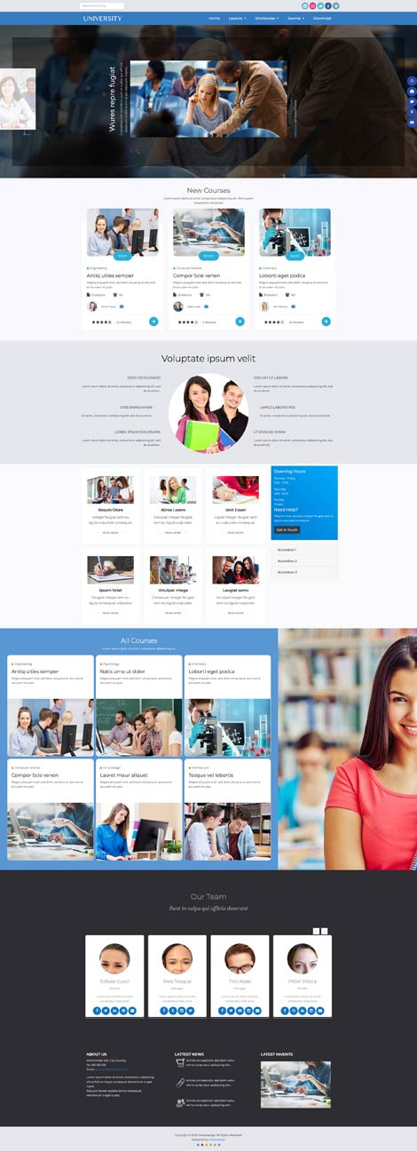 Ol University - Joomla template for education wesites