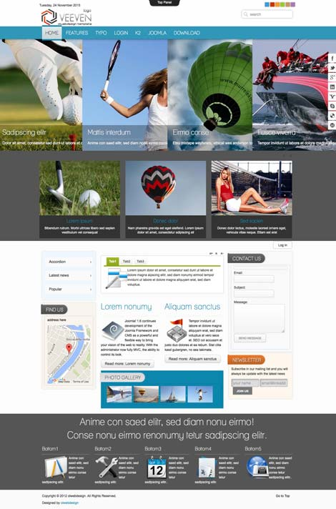 Ol Veeven - Sports Joomla Template