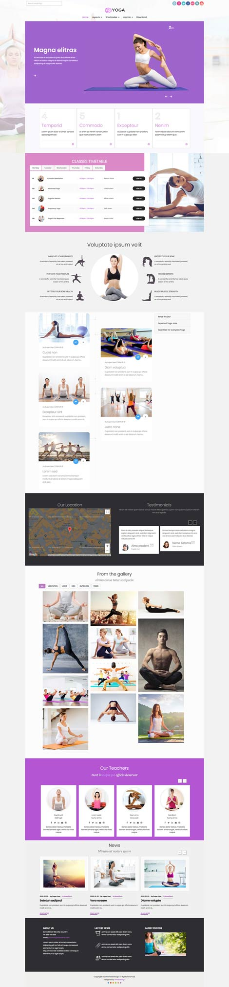 Ol Yoga - Joomla template for Yoga Studios