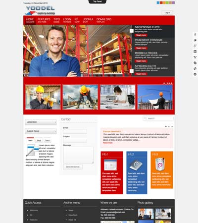 Joomla Construction Template
