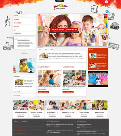 Yotex - Kindergarten theme template